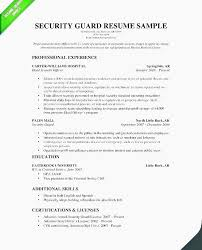27 Best Sample Resume For Security Guard Security Officer Resume