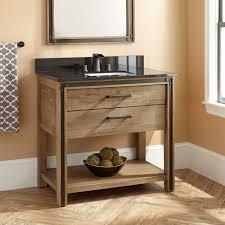 Open Shelf Vanity Bathroom Natural Wood Vanity Signature Hardware