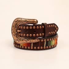 studded brown belt zoom