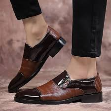 mens dress shoes brown black pattern oxford leather men formal business shoes leather luxury wedding shoes