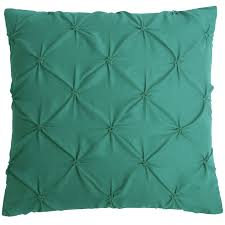 teal decorative pillows. Interesting Pillows Pintucked Decorative Pillow Teal 18x18in Throughout Teal Pillows A