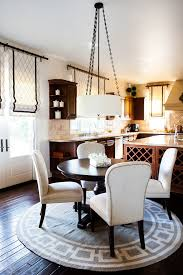 dining room circle rug studded dining chairs better decorating blog interior design kitchen dark laquered