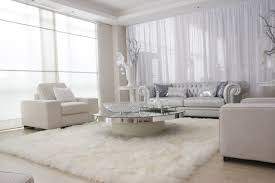 White Decor Living Room Beautiful All White Living Room In Interior Design For House With