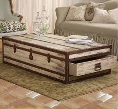 ... Coffee Table, Rustic Trunk Coffee Table Storage Home Rustic Design Home  Rustic Square Trunk Coffee ...