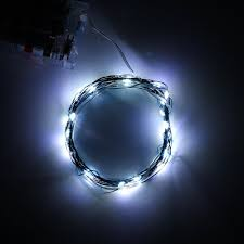2m 20leds cool white soft wire led string light 3 aa battery operated diy creative