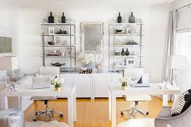 tour stylish office los. The Largest Office Is Where We Spend Most Of Our Time. White Lacquer Desks Tour Stylish Los I