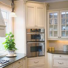 kitchen cabinet dark cherry glass door corner pantry cabinet and