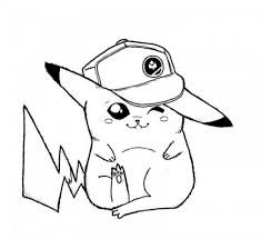 Pokemon Coloring Pages Pikachu Cute At Getdrawingscom Free For