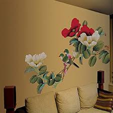 Small Picture Large Peony Flowers Wall Stickers Home Decor Adhesive Decorative
