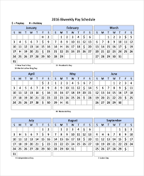 Payroll Calendar Template - 10+ Free Excel, Pdf Document Downloads ...