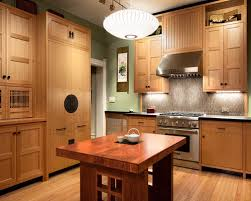 Inspiration For A Kitchen Remodel In San Francisco With Wood Countertops  And Medium Tone Wood Cabinets
