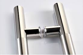 custom double finish matt and mirror stainless steel door handle
