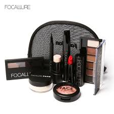 focallure makup tool kit 8 pcs must have cosmetics including eyeshadow lipstick with makeup bag makeup