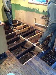 replacing or treating rotten floorboards under the existing floor covering