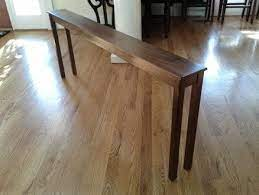diy sofa table table behind couch