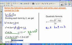 solving quadratic equation algebraically numerically and graphically