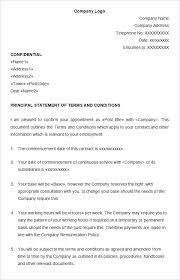 Hr Contract Templates Enchanting Statement Of Service Template Rightarrow Template Database