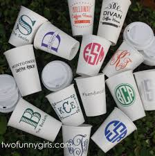 oz Paper Cups with Custom Label