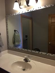 bathroom mirror frame tile.  Tile Added Strips Of Peel And Stick Tile To Edge Mirror Stylist Design Ideas On Bathroom  Mirrors Frame R