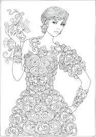 Barbie Coloring Pages Fashion Ilovezclub