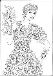 Barbie Coloring Pages Fashion Dress Printable Fashionistas Ilovezclub