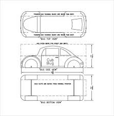 Download Basic Pinewood Derby Car Template For Free