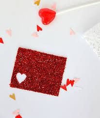 diy glittery valentine