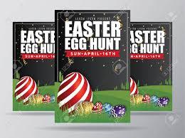 Easter Egg Hunt Flyer Template Design Easter Egg Background
