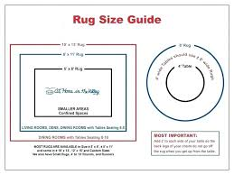 rug measurement dining