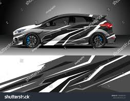 Design Racing Racing Car Wrap Design Vector Graphic Stock Vector Royalty