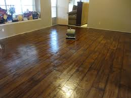 Diy Painted Concrete Floors Concrete Stained To Look Like Wood Floor That I Want It