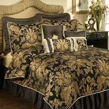 amazing black and gold comforter sets queen
