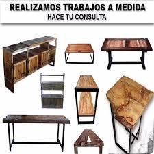 Muebles En Madera Y Hierro Uruguay