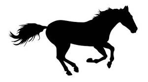 running horse clipart black and white. Interesting White Vector Illustration Of Running Horse Silhouette Illustration To Running Horse Clipart Black And White R