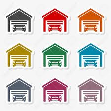 automatic garage door icon stock vector 103304455