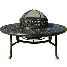 Ice Bucket Table Darlee Series 80 52 Inch Cast Aluminum Patio Wood Burning Fire Pit