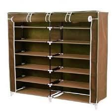 shoe organizer furniture. Unique Cartz 6 Layer Double Shoerack - Brown Foldable C Shoe Organizer Furniture A