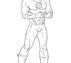 Flash Superhero Coloring Pages The Flash Coloring Pages Flash