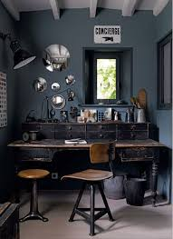 industrial home office desk. Industrial Workstation/Office. The Rugged Desk Goes Perfectly With Overall Dark Look Of This Room. Mirrors On Wall Helps Open Up Space, Home Office I