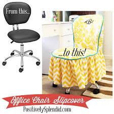 office chair slipcover tutorial positivelysplendid com