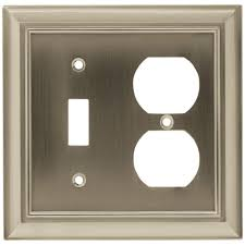 brushed nickel switch plate covers. Simple Nickel Hampton Bay Architectural Decorative Switch And Duplex Outlet Cover Satin  Nickel Inside Brushed Plate Covers