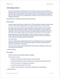 audience analysis example audience analysis template apple iwork pages and numbers