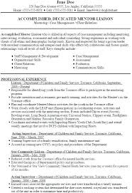 Examples Of Social Work Resumes Social Work Resume Examples Social