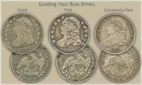 Dime Value Chart Bust Dime Value Discover Your Rare Dimes The Better The