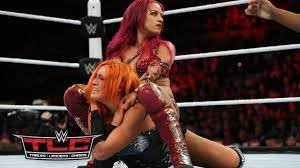 She would keep the title for 192 days before dropping it to bayley at takeover: Becky Lynch Vs Sasha Banks Wwe Tlc 2015 Kickoff Youtube