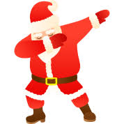 dabb dance. santa dab dance illustration | christmas gift dabb