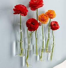 modern fashion design diy vaes glass vase wall hanging home glass wall vases for flowers wall