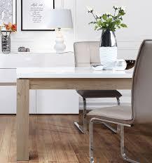 Esstisch Küchentisch Weiß Bianco Eiche Weiß Hochglanz 160 206cm