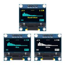 "<b>4pin 0.96</b>"" White/Blue/Yellow blue <b>0.96 inch</b> OLED 128X64 OLED ..."