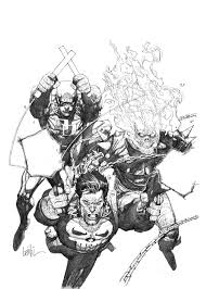Daredevil Ghost Rider And Punisher By